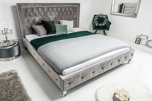 Łóżko Extravagancia, jasnoszare, 38x190x215 cm