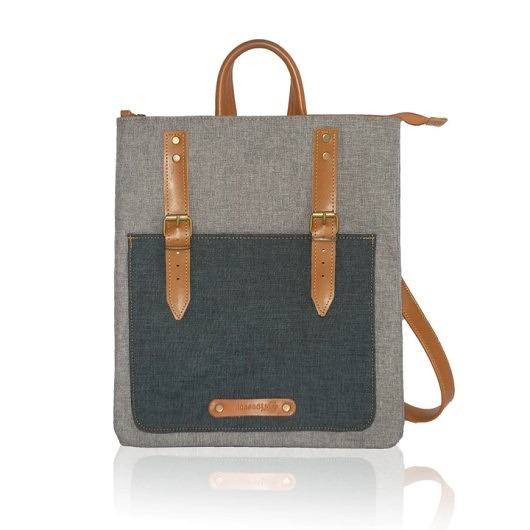 plecaki-CITY backpack grey/blue