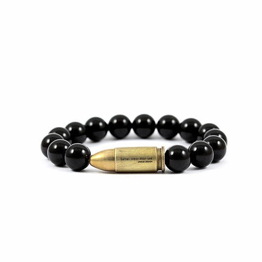 bransoletki - minerały-Better Wear Than Use- Onyx Bracelet
