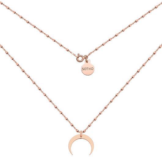 SOTHO Naszyjnik z rÓżowego złota z księżycem - naszyjniki - inne Biżuteria Damska naszyjniki FF FF-3gorąca wyprzedaż w 2019 roku