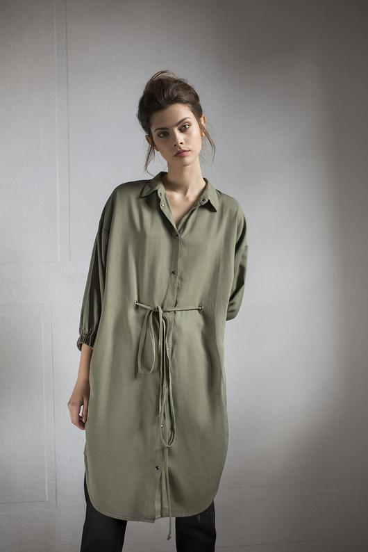Sukienka Khaki Shirt dress