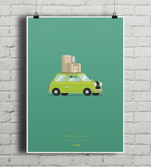 plakaty-Mr. Bean - British Mini - plakat A2