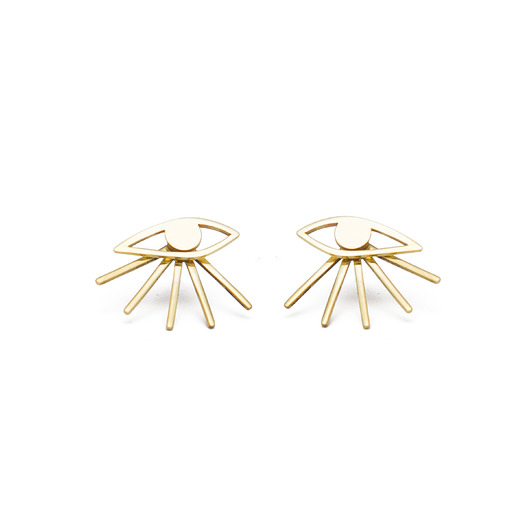 kolczyki - inne-Kopi mini eyes earrings /gold
