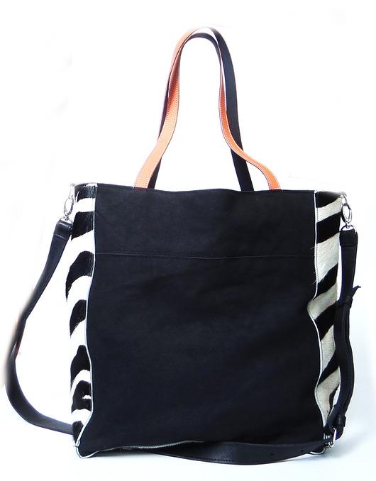 24470936d539c torby na ramię - damskie-Zanzibar skórzana torba z naturalnym futrem