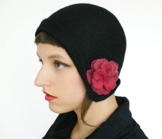 ca1382afb kapelusz filcowy retro - czapki i kapelusze - damskie - Pakamera.pl