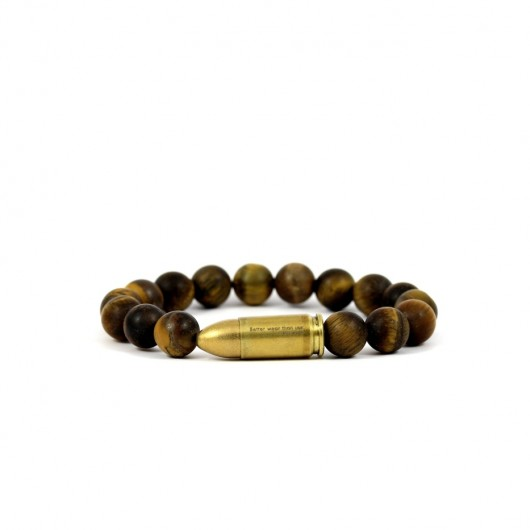 bransoletki - minerały-Better Wear Than Use- Tiger Eye Mat Bracelet