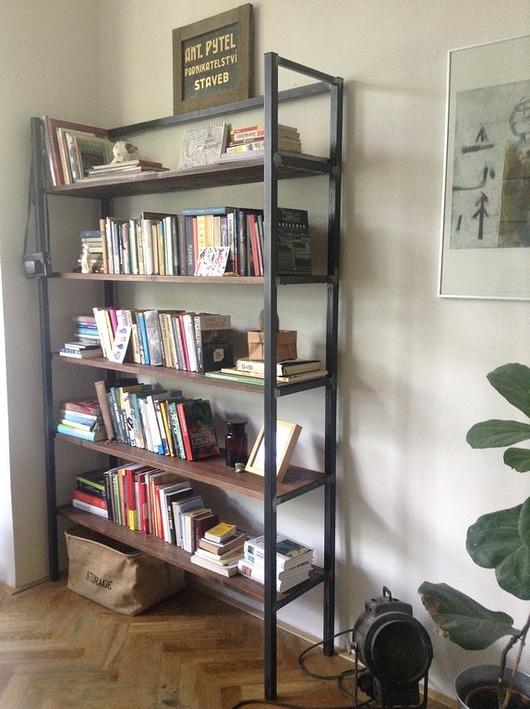 Regał MERU - industrialny minimalistyczny loft