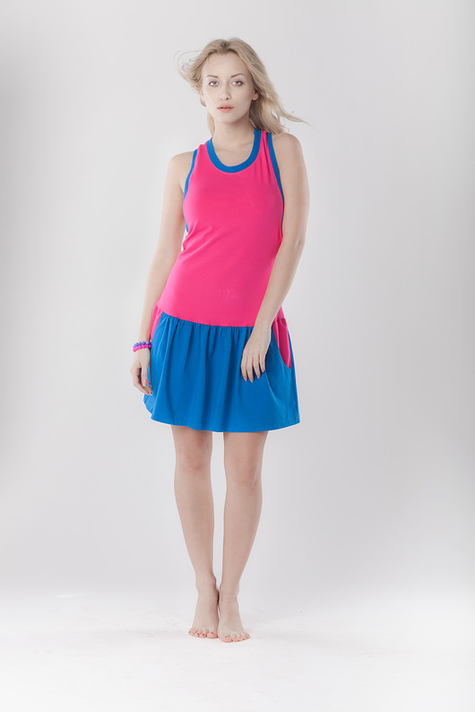 DRESS.BOXING pink&blue