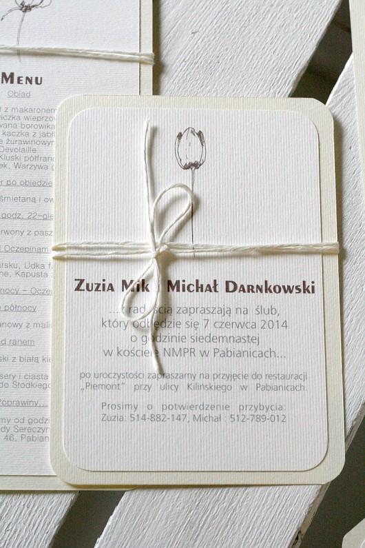 10 Zaproszeń ślubnych Flower Harmony ślub Zaproszenia Kartki