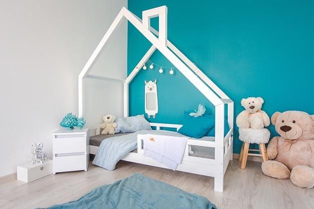 Łóżko domek dla dzieci Kolor skandynawski