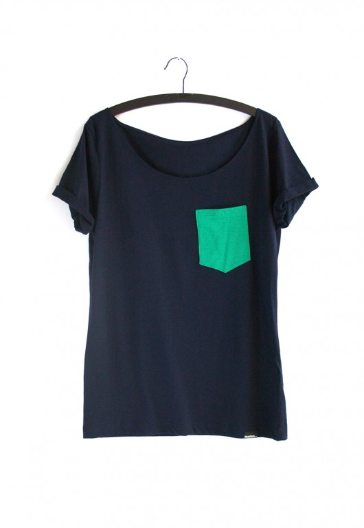bluzki - t-shirty - damskie-sprout pocket - organic t-shirt