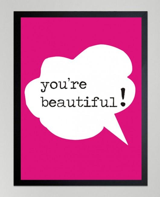 poster youre beautiful plakaty pakamerapl