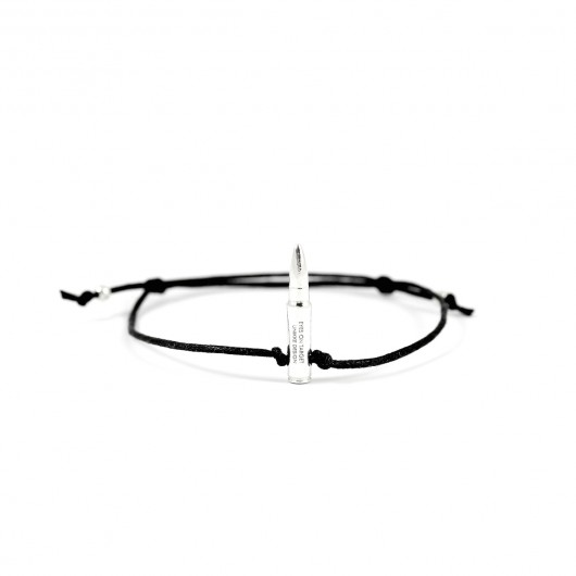 bransoletki - inne-Eyes On Target - mini bullet bracelet (silver 1)