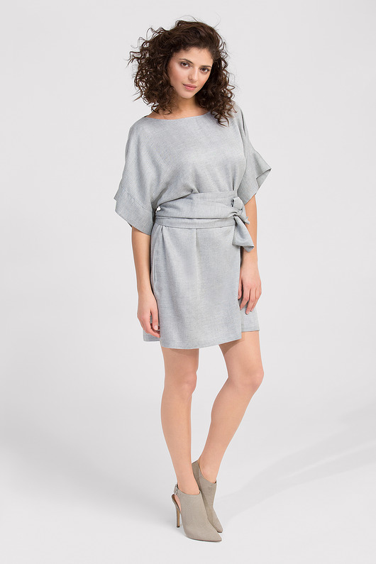 sukienki - mini-New Grey Klara Dress