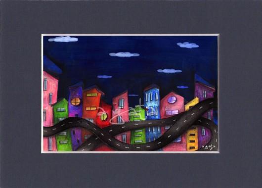 Miasto Nocą Ilustracja Pakamerapl