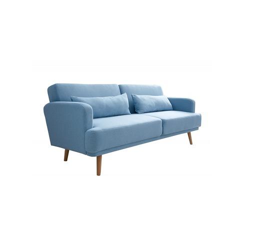 Sofa z funkcją spania Studio niebieska loft 210cm